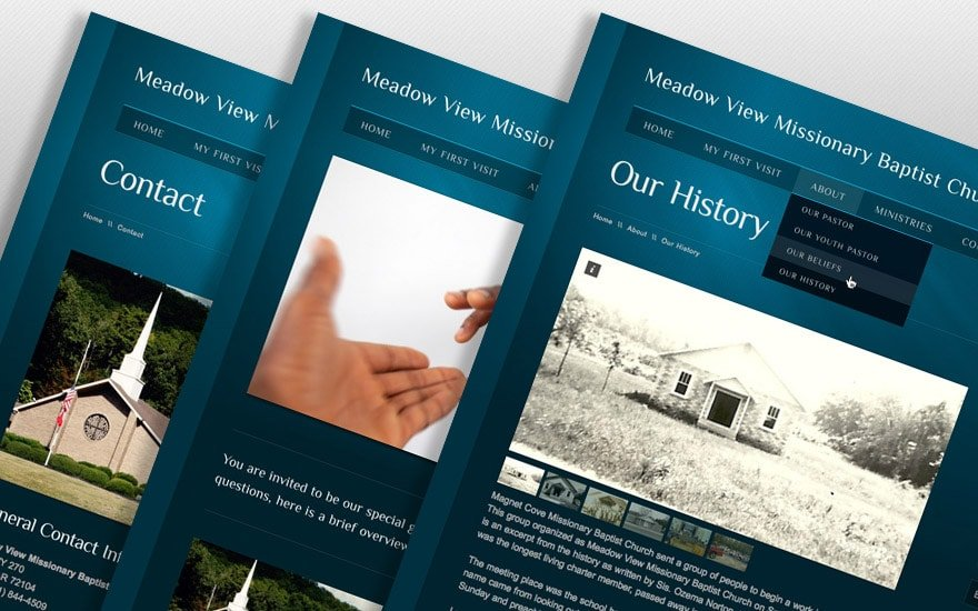 Meadow View website design