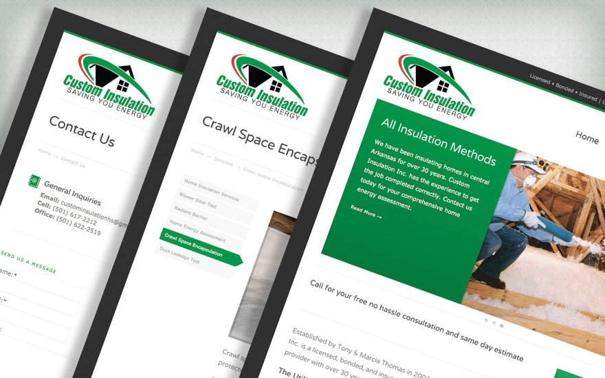 Custom Insulation website