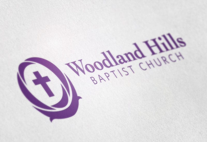 Woodland Hills church logo design