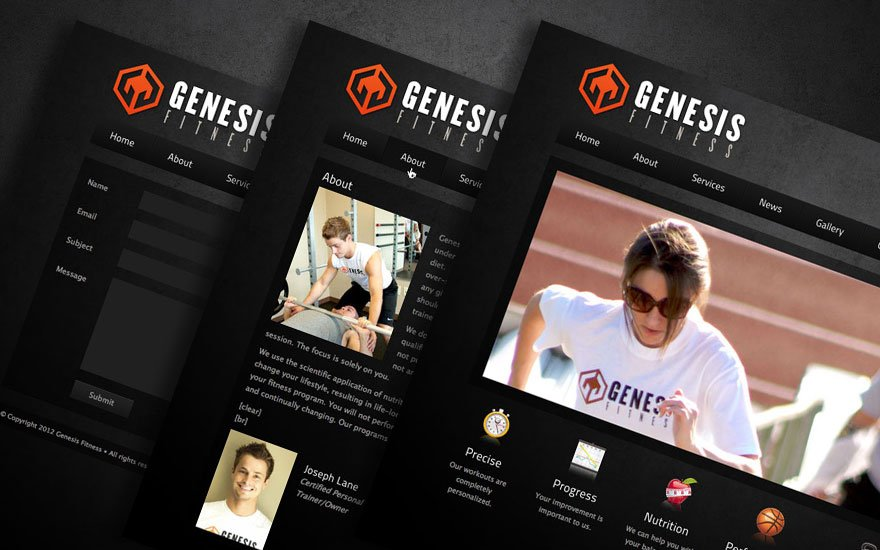 Genesis Fitness website preview