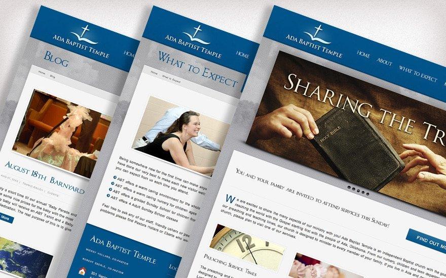 Ada Baptist website preview